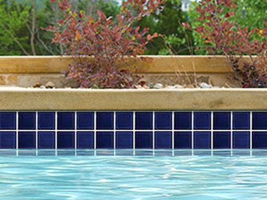 National Pool Tile Marine Field 3x3 Series Pool Tile | Royal Blue | M320