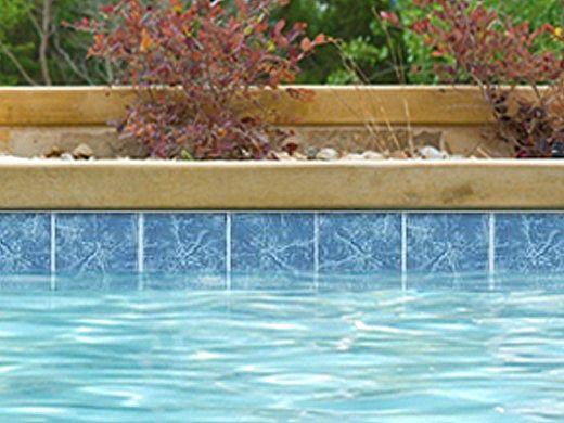 National Pool Tile Seven Seas 6x6 Series   Lake Blue   PA41
