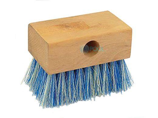 "Pool Pals 5"" Wood Tile Brush White & Blue Poly Bristle   BR2000"