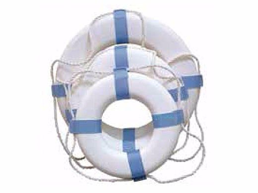 """Poolstyle 24"""" Blue/White Decorative Life Ring Buoy   PS373"""