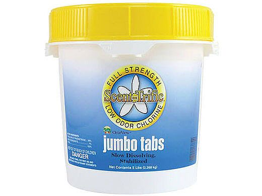 """ClearView 3"""" Jumbo Scent-Trific™ Wrapped Chlorine Tabs 