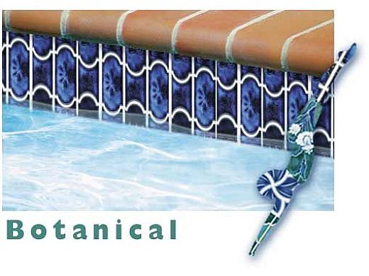 National Pool Tile Botanical Series Pool Tile | Sky Blue | BUE22