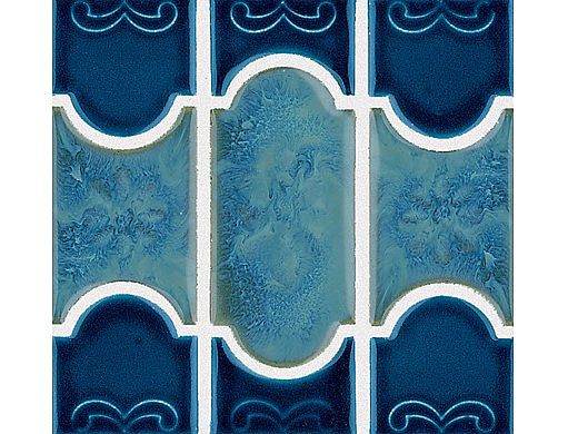 National Pool Tile Botanical Series Pool Tile | Navy Blue | BUE40