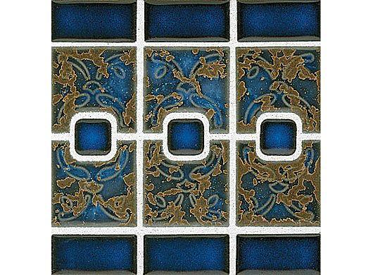 National Pool Tile Luciana Series Pool Tile   Terra Blue   LC-2440S