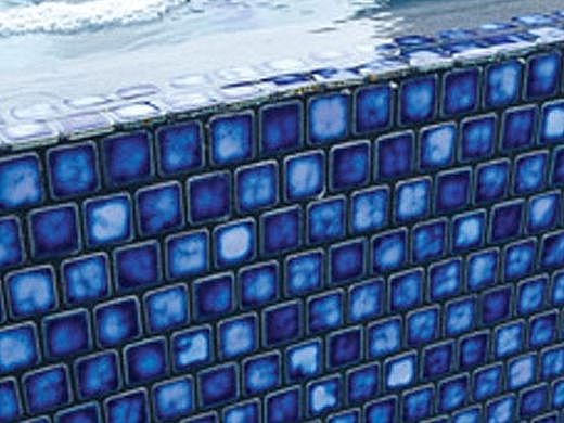 National Pool Tile Mini Koyn Series | Marbleized Royal Blue | MK105