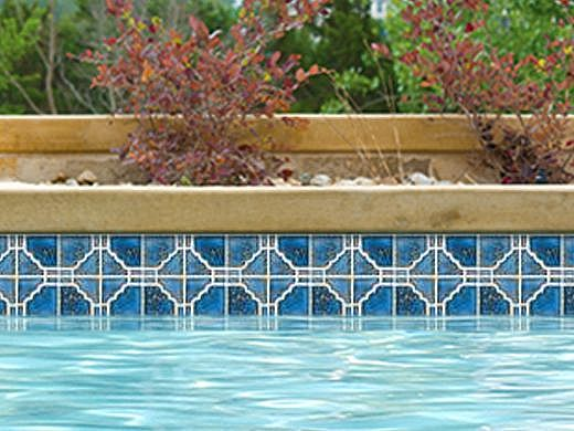 National Pool Tile Moonbeam Series | Terra Blue | STB807