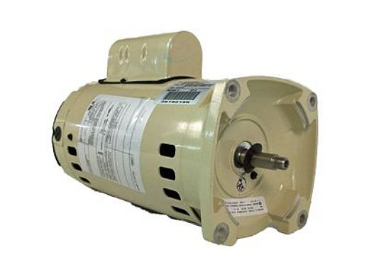 Replacement Pentair Square Flange Motor 1HP Energy Efficient 115V/208V 230V Almond 071314S BPA450 | EB841A | ASB841A | 355010S