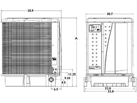 Pentair UltraTemp Heat and Cool Pump | 125K BTU Heat | 71K BTU Cool | Titanium Heat Exchanger | Digital Controls | Almond | 460935