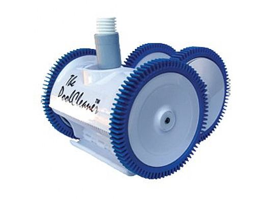 Poolvergnuegen PoolCleaner 4-Wheel Suction Side Cleaner | White Blue Model | W3PVS40JST
