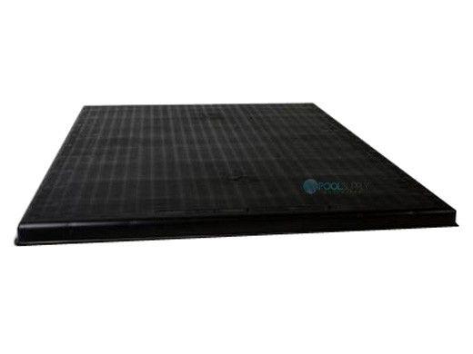 "DiversiTech The Black Pad® Plastic Equipment Pad 24""x24""x2"" | ACP24242"
