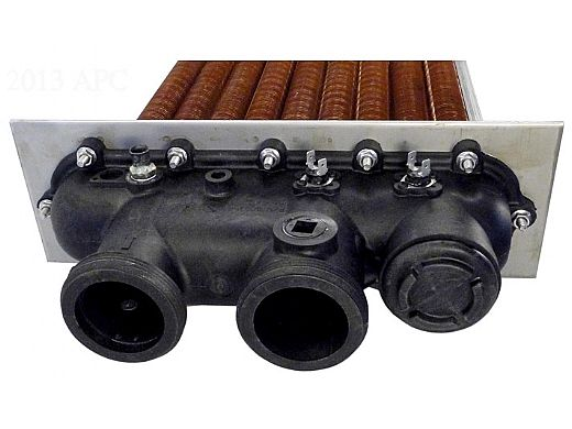 Raypak Copper Heat Exchanger Complete with Polymer Heads 206/207 | 010043F