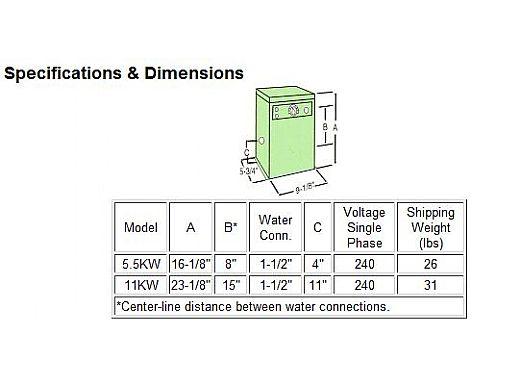 Raypak Spa Pak Electric Heater Els552 5 5kw 240v 001642