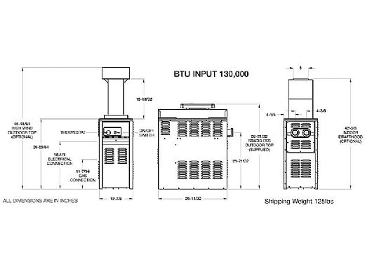 Raypak Versa 130k Btu Above Ground Amp Spa Heater 011493