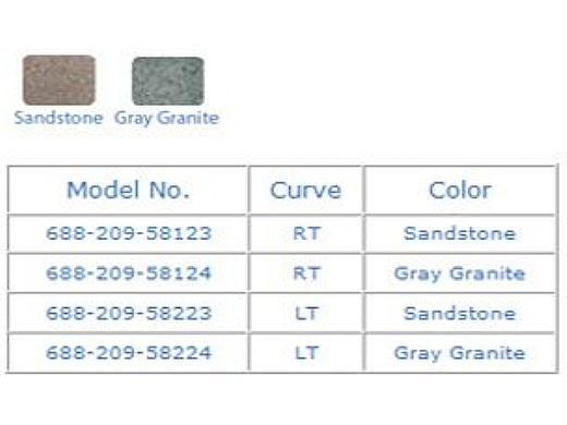 SR Smith TurboTwister Pool Slide   Right Curve   Sandstone   688-209-58123