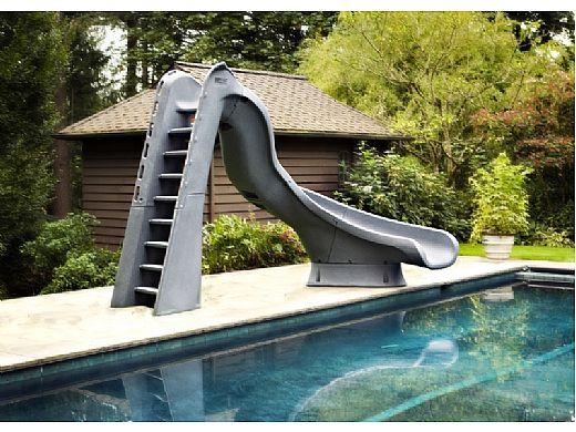 SR Smith TurboTwister Pool Slide   Left Curve   Sandstone   688-209-58223