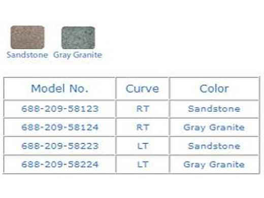 SR Smith TurboTwister Pool Slide   Left Curve   Gray Granite   688-209-58224