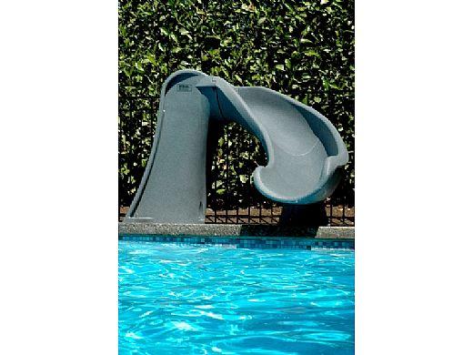 SR Smith Cyclone Pool Slide | Right Curve | Gray Granite | 698-209-58124