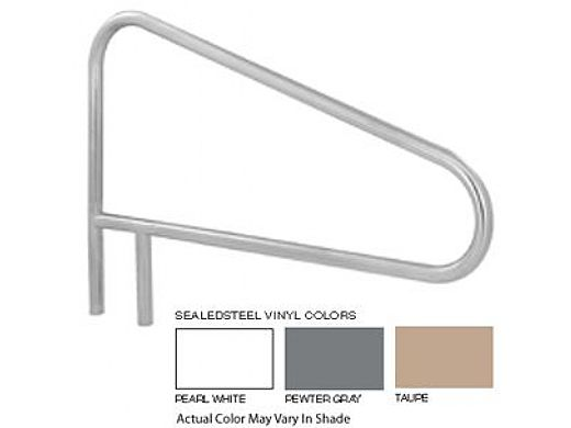 """SR Smith 54"""" Center Grab 3 Bend Sealed Steel Rail   Taupe Color   304 Grade   .049 Wall Residential   DMS-103A-VT"""