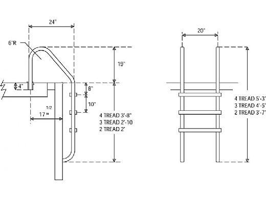 SR Smith Economy Ladder 2-Step | Hip Treads Stainless Steel | VLLS-102E