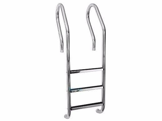 "SR Smtih Parallel-Look Econoline 19"" Ladder | 3-Step Plastic Treads | 304 Stainless Steel | PLL-12E-3B"