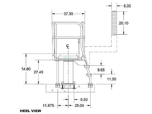 S.R. Smith Deluxe Tower 1 Meter, Right Mount   CAT-1M-203R