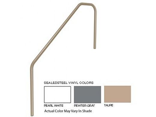 SR Smith 3 Bend 4' Sealed Steel Handrail   Pewter Gray Color   304 Grade   .049 Wall Residential   3HR-4-049-VG