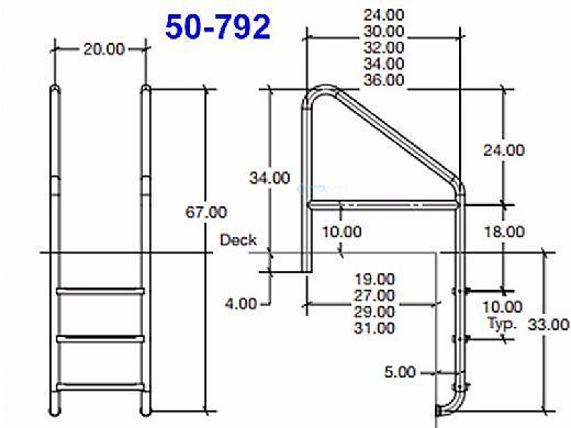"SR Smith Elite Dade County Ladder | Florida Rollout + Cross Brace 22"" Marine Grade | 50-795S-MG"
