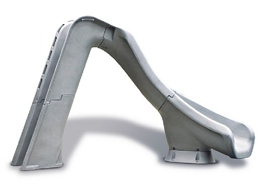 SR Smith Typhoon Pool Slide | Right Curve | Gray Granite | 670-209-58124