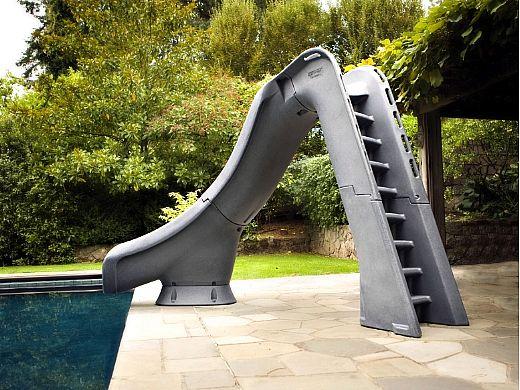 SR Smith Typhoon Pool Slide | Left Curve | Gray Granite | 670-209-58224