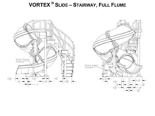 SR Smith Vortex Pool Slide | Spiral Staircase & Closed Flume | Gray Granite | 695-209-424