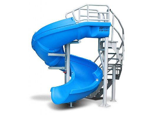 SR Smith Vortex Pool Slide   Spiral Staircase & Closed Flume   Gray Granite   695-209-424