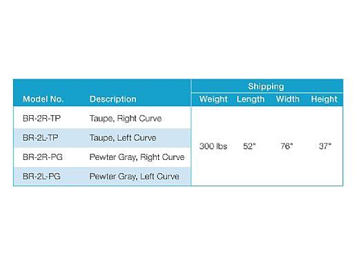 SR Smith BigRide Pool Slide | Right Curve | Taupe | BR-2R-TP