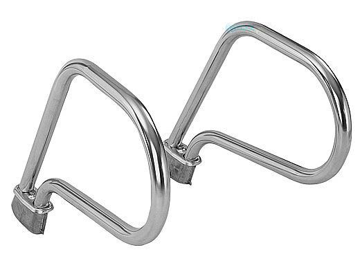 SR Smith Residential Ring Sealed Steel Grab Rail w/ No Anchors | Rock Gray Color  | 304 Grade | 049 Wall | 1.625 OD | RRH-100-RG