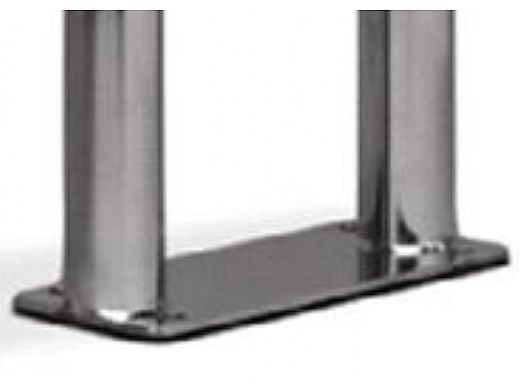 """SR Smith 55.90"""" Center Grab Stainless Steel Rail with Welded Mounting Plate  