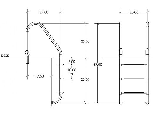 "SR Smith Econoline 24"" Snap-lok Ladder | SLF-24E-3B"