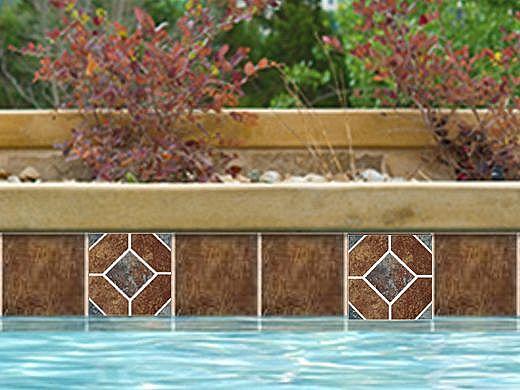 National Pool Tile Aztec Series 6x6 Deco | Peacock | AZ1 DECO