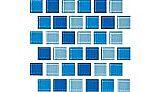 National Pool Tile Allure 1x1 Glass Tile | Peacock | 201-019