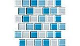 National Pool Tile Allure 1x1 Glass Tile | Peacock | 201-019