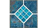 National Pool Tile Verona 6x6 Series | Borba Turquoise Deco | VR679 DECO