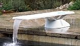Inter-Fab Edge Base with Edge aquaBoard Board Complete | 6' White with White Top Tread and White Base | EDGE6WW-KIT