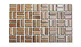 Cepac Tile Serenity Basket Weave Series 0.5x1 Tile | Driftwood | SR3-BW