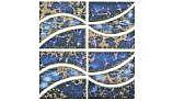 US Pool Tile Beachwave Series | Terra Blue | BWV07