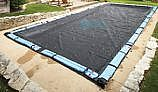 Arctic Armor Rugged Mesh Winter Cover | 12' x 20' Rectangle for Inground Pool | 8-Year Warranty | WC650