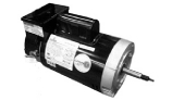 Replacement Threaded Shaft Pool Motor 1HP | 230V 56 Round Frame Full-Rated | Two Speed with Timer B2975T | EB2975T