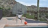 "Inter-fab Traditional Style Basketball Game Set | 12"" Offset Post 