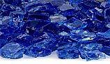 American Fireglass Half Inch Premium Collection | Cobalt Reflective Fire Glass | 10 Pound Jar | AFF-COBLRF12-J