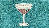 AquaStar Fillable Friends® Martini Glass Stencil Only | Gray | F1025-05