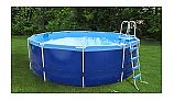 "Splash-A-Round Pools Quik Swim | 16' Round 48"" Tall Metal Frame Pool 