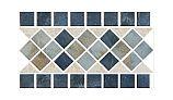 US Pool Tile Rustic Border Series | Blue | RBR120