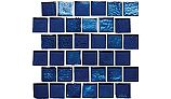 National Pool Tile Aquascapes 1x1 Glass | Sapphire | OCN-SAPPHIRE